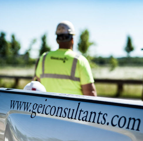 geiconsultants.com on jobsite sign