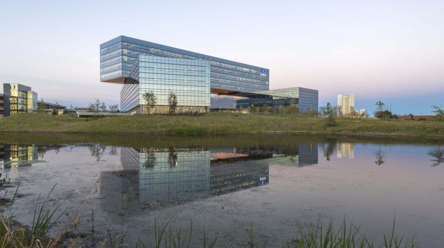 Zurich North America Headquarters by water