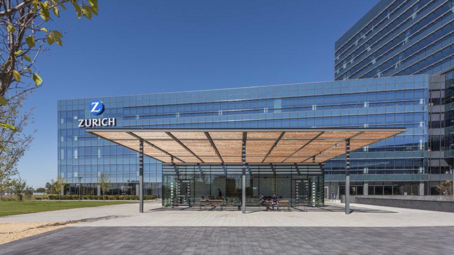 patio of Zurich North America Headquarters