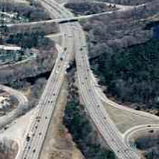 aerial photo of highway