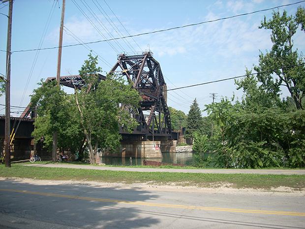 bridge over river beside road