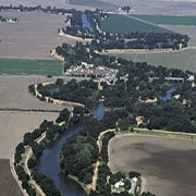 aerial view of Delta Old River