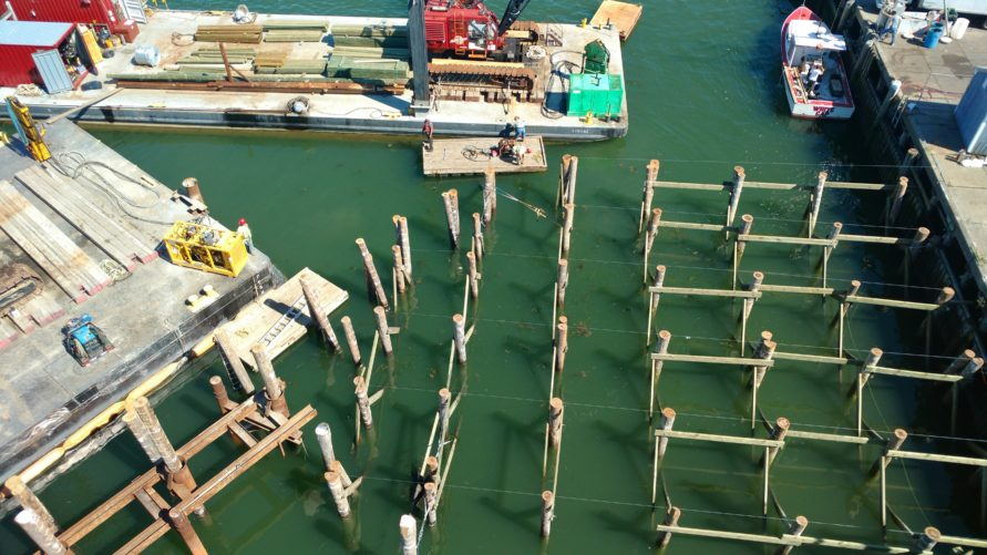 overhead view of T Wharf Expansion