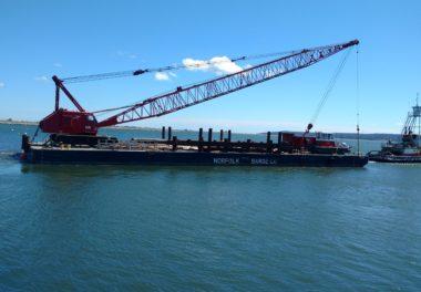 crane on water