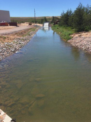 stream between rock shore