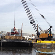construction crane in Portsmouth on water