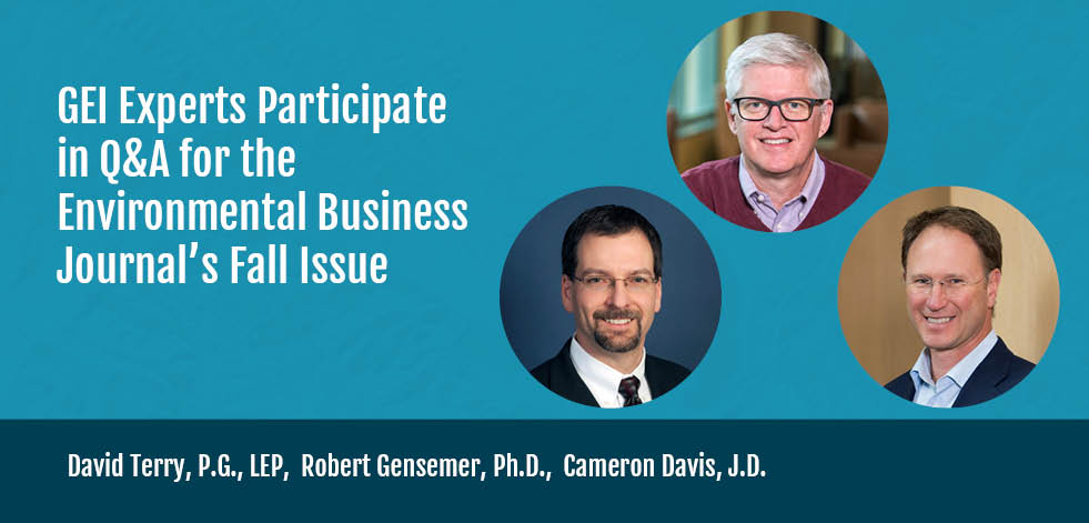 GEI Experts Participate in Q&A for the Environmental Business Journal's Fall Issue