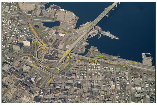 aerial view of 195 interchange