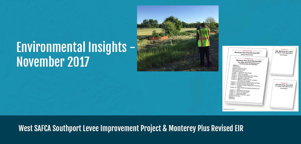 California Environmental Insights Dec. 2017, Project Updates