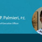 Ron Palmieri on blue background