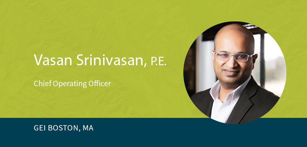 Vasan Srinivasan on green background