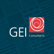 GEI logo on blue overlay