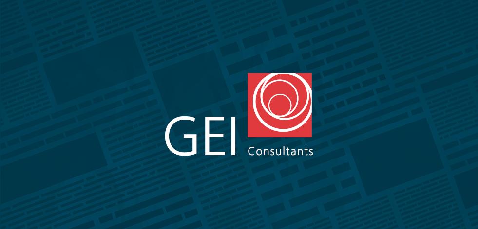 GEI logo on blue overlay