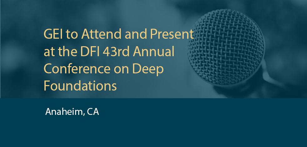 GEI to Attend and Present at DFI 43rd Annual Conference on Deep Foundations