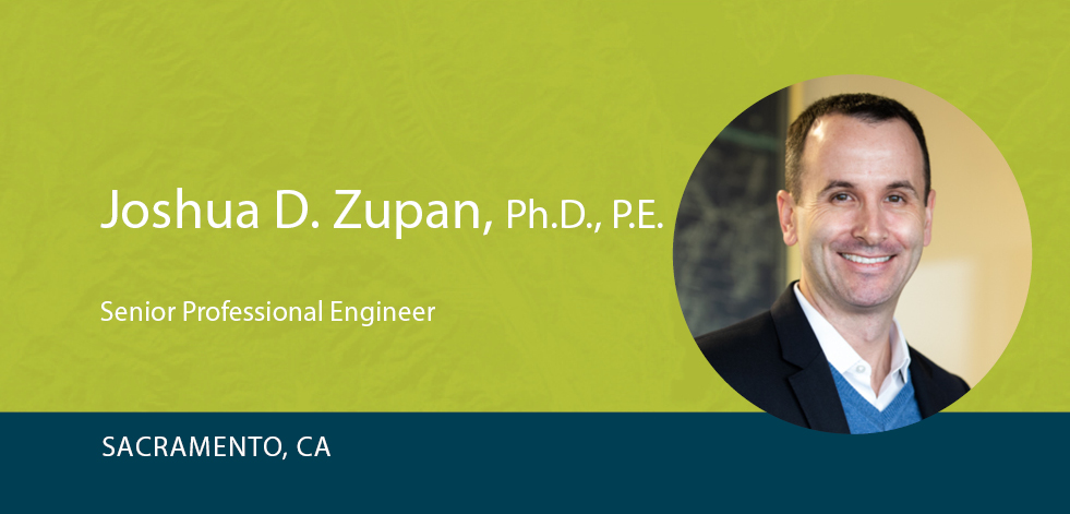 Josh Zupan on green background