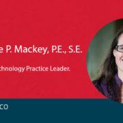 Desiree Mackey on red background