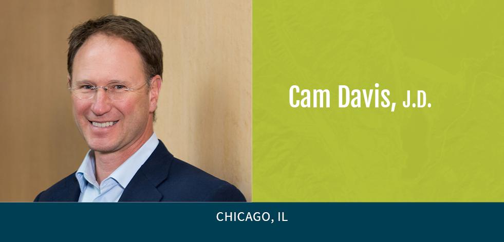 Cam Davis with green background