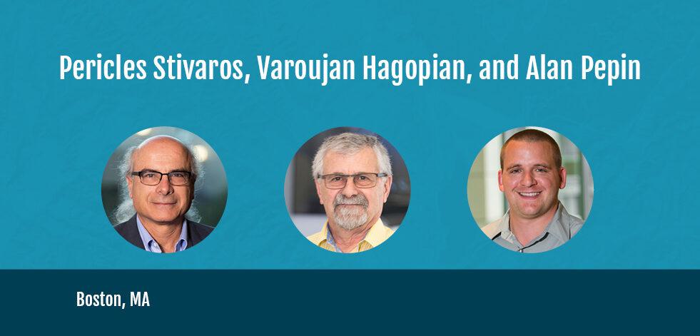 graphic of Pericles Stivaros, Varoujan Hagopian, and Alan Pepin