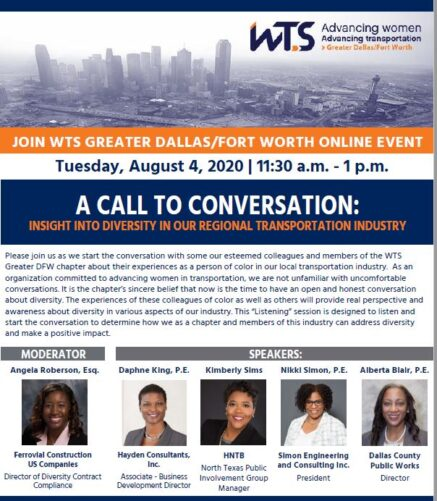 WTS Greater DFW chapter panel flyer