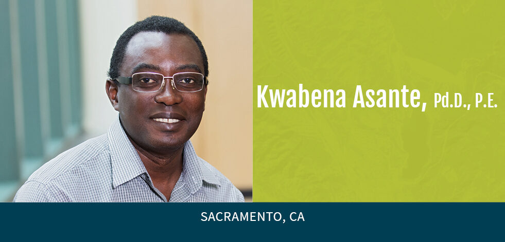 photo of Kwabena Asante with green background